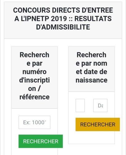 Concours direct de la fonction publique 2019
