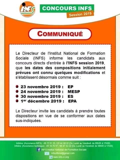 Programme de composition INFS 2019