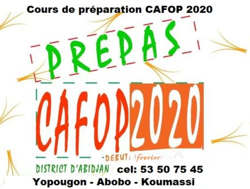 cafop 2020 les cours de préparation concours