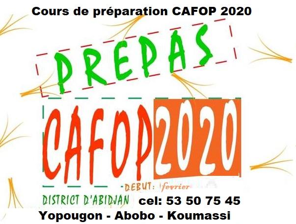cafop 2020 cours de préparation