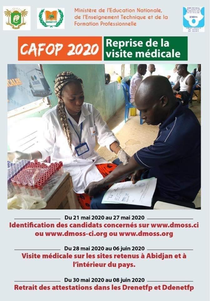 CAFOP_2020 : Reprise de la visite médicale