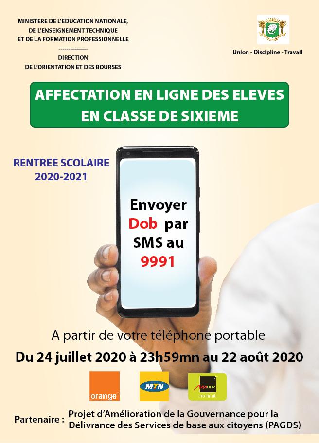 L'AFFECTATION EN LIGNE DES ELEVES EN CLASSE DE SIXIEME